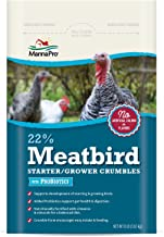 Manna Pro 22-Percent Meatbird Starter Grower Crumbles with Probiotics, 8 lb