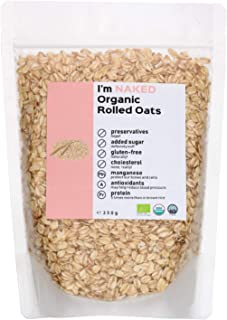 Naked Organic Rolled Oats, 350g