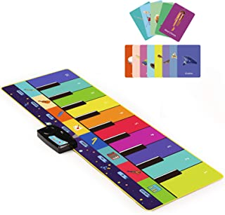 Joyjoz Kids Piano Mat, Musical Toys with 100 Plus Melodies, Floor Keyboard with Play, Record, Playback and Demo Modes with...