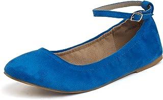 DREAM PAIRS Women's Solid Plain Walking Classic Flats Shoes