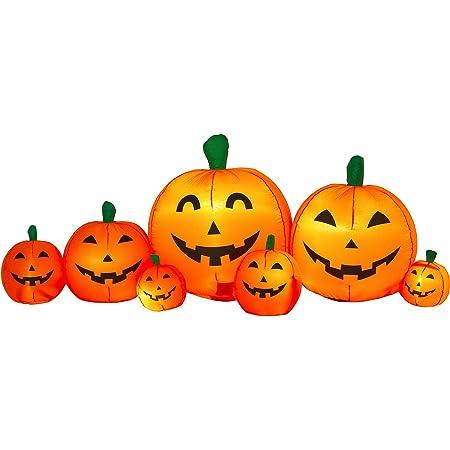 Pumpkin Airblown Inflatable Patch 8.5/' Long Yard Decor Prop Halloween