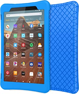 MoKo Case for All-New Fire HD 10 Tablet (7th Generation/9th Generation, 2017/2019 Release), [Honey Comb Series] Shockproof Soft Silicone Back Cover [Kids Friendly] for Fire HD 10.1