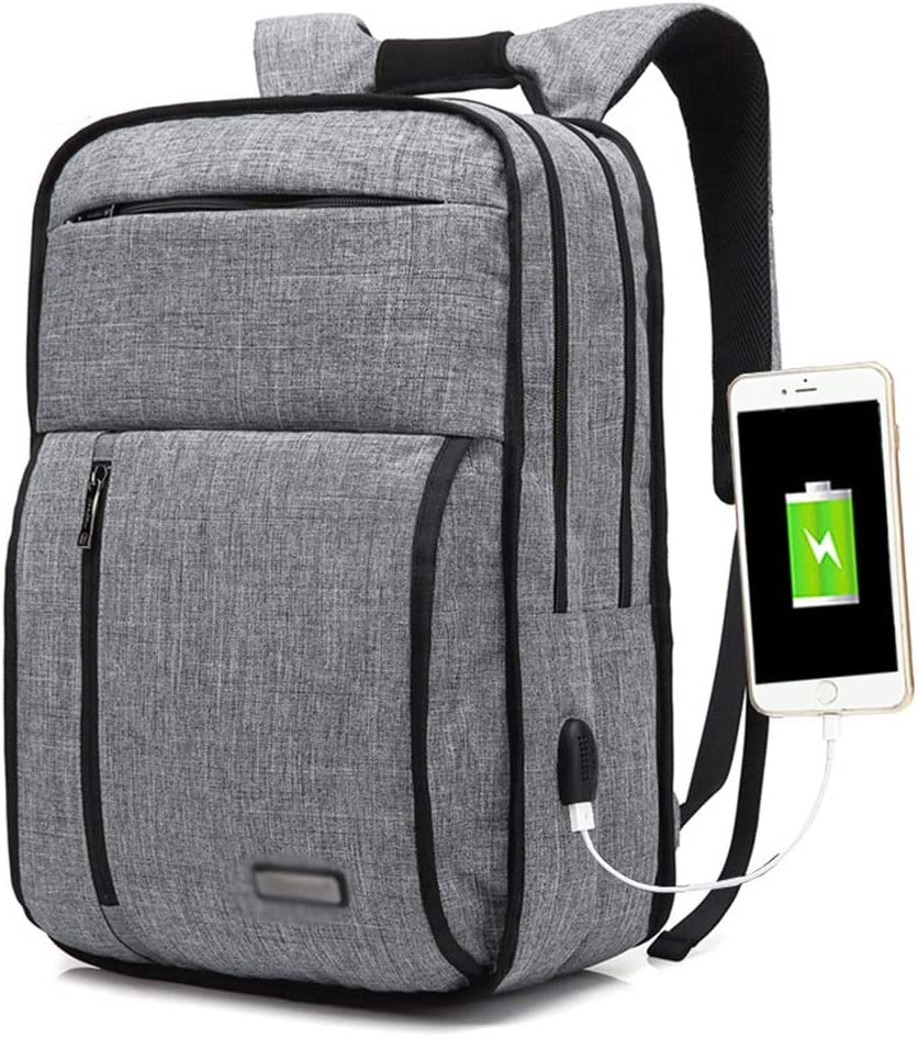 Color : Black, Size : 15inch JIANZ Daypacks Large-Capacity Backpack Backpack Male USB Charging 15.6 Inch Backpack