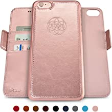 Dreem Fibonacci 2-in-1 Wallet-Case for iPhone 6 & 6s, Magnetic Detachable Shock-Proof TPU Slim-Case, RFID Protection, 2-Way Stand, Luxury Vegan Leather, Gift-Box - Rose-Gold
