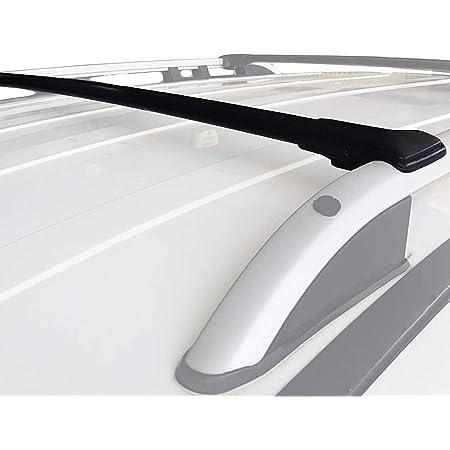 Accessorypart Für Dacia Duster 2018 2020 Dachträger Gepackträger Aluminium Schwarz 2 Tlg Auto