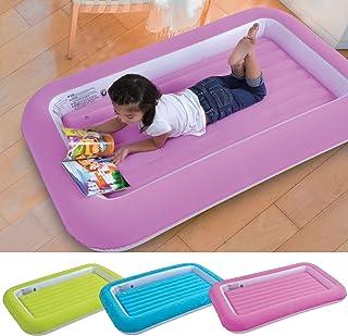 Parkland® Luftmadrass för barn och småbarn, med säkerhetskant, flockad och behagligt mjuk, även som en säng för små överna...