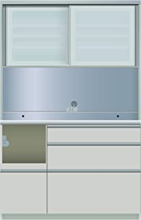 パモウナ 食器棚ME シルキーアッシュ 幅120×高さ187×奥行50 日本製 MEL-1200R