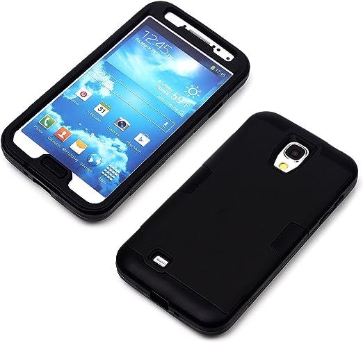Luolnh Coque de protection hybride 3 en 1 pour Galaxy S4 Noir