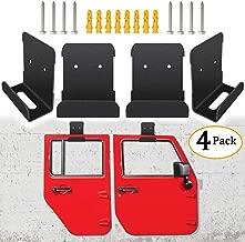 Sunluway for Jeep Wrangler CJ YJ TJ LJ JK JKU and All New JL Door Storage Hanger Rack Bracket Hanging (Pack of 4)