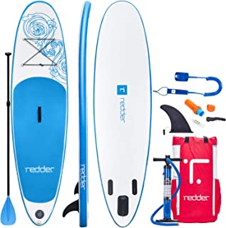 redder Stand Up Paddle Board Inflatable SUP Board All Round Yoga SUP Surf Board Adult and Kids Paddle Board with Leash, Pa...