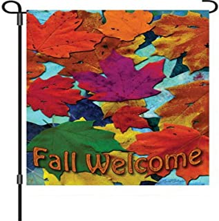 Premier Kites 51218 Garden Brilliance Flag, New Fall Welcome, 12 by 18-Inch