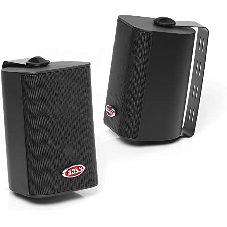 BOSS Audio Systems MR4.3B 200 Watt Per Pair, 4 Inch, Full Range, 3 Way Weatherproof Marine Speakers Sold in Pairs