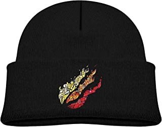 Rhythm Of Rain Gamer Flame Kid's Beanie Knitted Hats Warm Caps for Boys Girls
