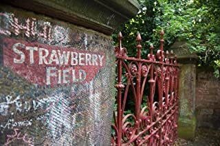 Strawberry Field Gate Liverpool England UK Photo Art Print Laminated Dry Erase Sign Poster 18x12