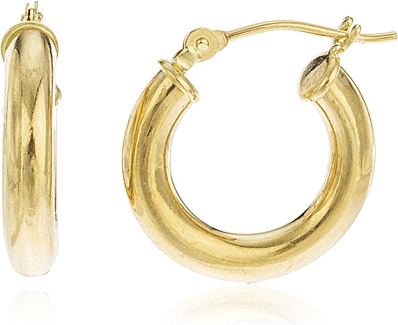 14k Gold Many popular brands Sale item 3mm Basic Earrings 6P-A8AS-JIDP Hoop Pincatch