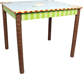 Fantasy Fields - Sunny Safari Animals Thematic Hand Crafted Kids Sturdy Wooden Table - Imagination Inspiring Hand Crafted & Carefully Packaged Unique Hand Painted Details - Blue