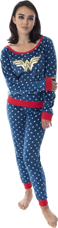 DC Safety and trust Comics Wonder Woman Juniors' Fleece Shirt Joggers 5 ☆ popular Long Sleeve