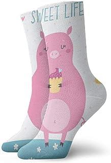 Pengyong - Calcetines para hombre y mujer, diseño de cerdo