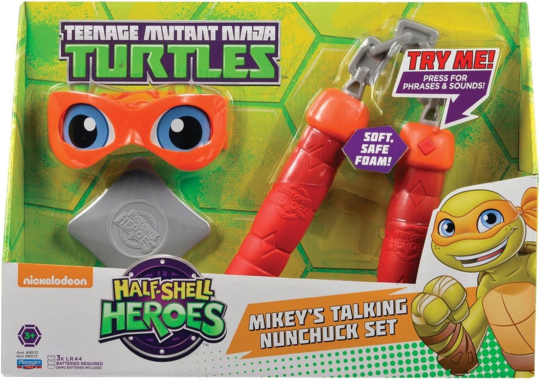 Teenage Mutant Ninja Turtles – Half-Shell Heroes – Mikey's sprechendes Nunchuck-Set (Englische Sprache) B00Y9S5PGS Konzentrieren Sie sich auf das Babyleben   Perfekte Verarbeitung