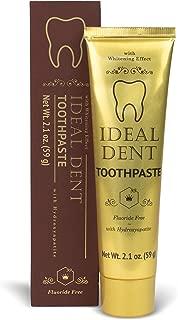 Hendel's Garden Ideal Dent Natural Teeth Whitening Toothpaste – Organic Vegan Fluoride Free Bright White Gentle Enamel Safe Tooth Whitener Paste for Whiter Smile, Gum Health