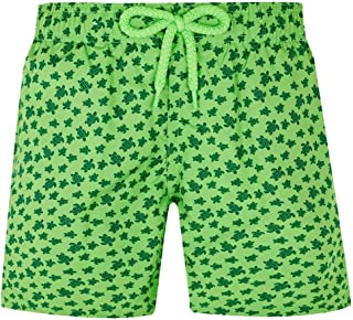 Vilebrequin - Boys - Swimwear Ultra-Light and Packable Micro Ronde des Tortues Fluo
