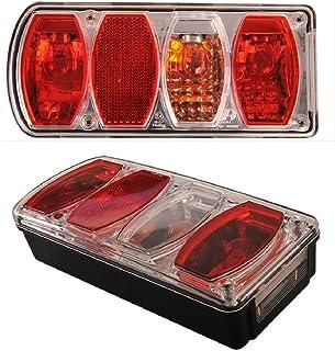 6 Funktions Anhänger Bremsleuchte Rückfahrlicht Blinker Rücklicht Nebellicht Reflektor Kennzeichenbeleuchtung 12V LICKS/RECHTS SET (LINKS)