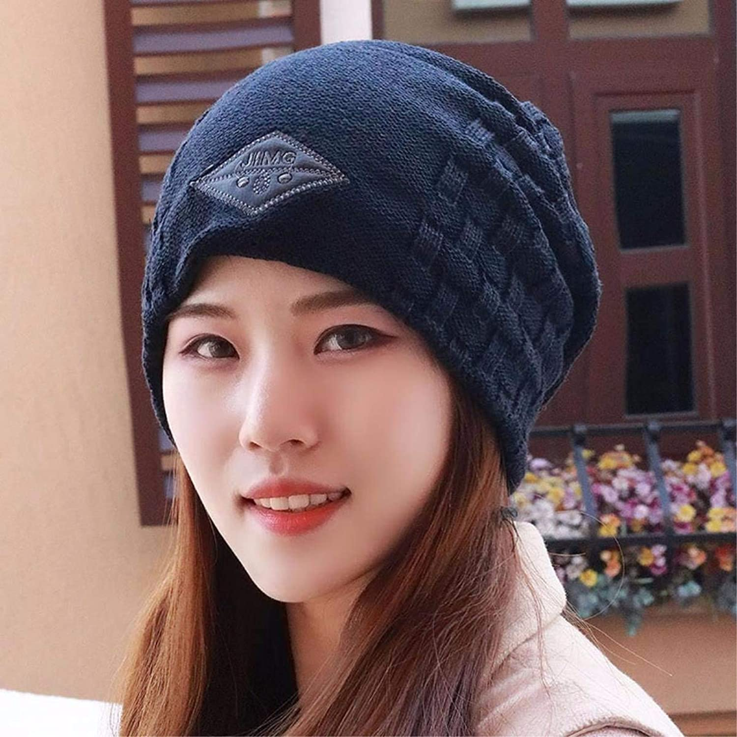 Chuiqingnet Winter knitting knitting hat elastic ear cap cap ear cap. A large number of youth Hats