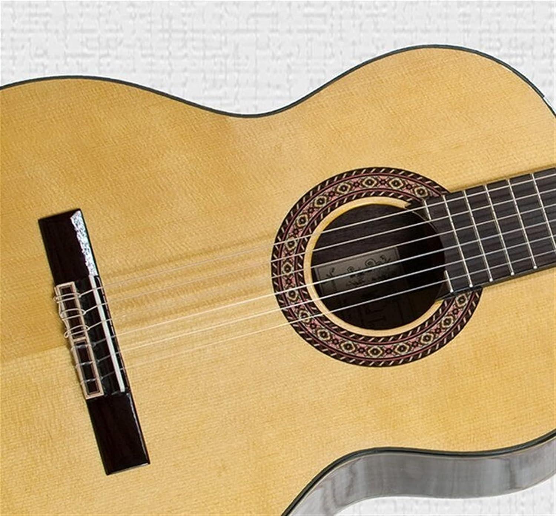 XLAHD Guitarra 39 Pulgadas Guitarra clásica Cuerdas de Nailon Hechas a Mano Guitarra acústica clásica con Tapa sólida 39 Pulgadas (Color: Estuche de Guitarra de Cedro, Tamaño: 39 Pulgadas)