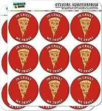 in Crust We Trust Pizza Funny Humor Planner Calendar Scrapbooking Crafting Stickers