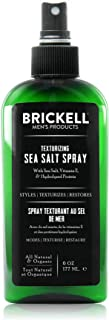 Brickell Men's Texturizing Sea Salt Spray for Men, Natural & Organic, Alcohol-Free, Lifts and Texturizes Hair for a Beach or Surfer Hair Style (6 Ounce)