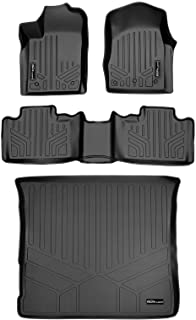 SMARTLINER Floor Mats 2 Rows and Cargo Liner Set Black for 2013-2016 Jeep Grand Cherokee Without 2nd Row Center Console