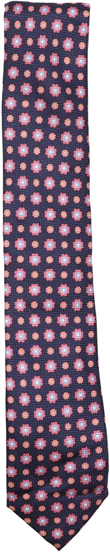 Altea Milano Men's Silk Basket Weave Floral Print Necktie