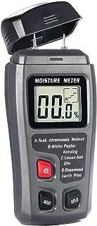 Bside EMT01 Digital Wood Moisture Meter Handheld 2 Pins Timber Lumber Damp Humidity Detector Tester with Backlight