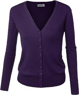 5a88158e7d BIADANI Women Button Down Long Sleeve Basic Soft Knit Cardigan Sweater