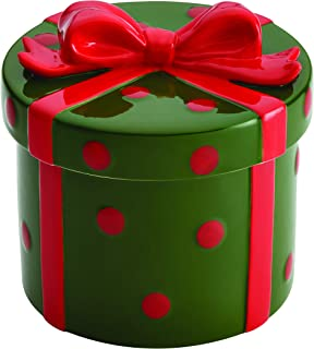 Cake Boss 59743 Serveware Cookie Jar, Green and Red