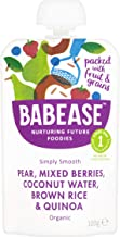 Babease Stage 1 Pear Mixed Berries Rice & Quinoa 100g (Pack of 8)