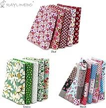 RayLineDo 15 Pcs Different Pattern Multi Color 100% Cotton Poplin Fabric Fat Quarter Bundle 18