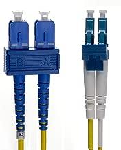 NTW NL-SC/LC-06SDR SC/LC Singlemode Duplex 9/125 Optical Fiber Nonconductive Riser Jumper Cable OS1