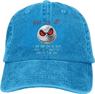 Jack Skellington - Piss E Off I Will Slap You So Hard Unisex Adjustable Hat,Black Chapeau