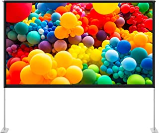 TaoTronics 100 inch Projector Screen with Stand,TT-HP027 16:9 HD Projection Screen Outdoor Indoor Portable Front Rear Poly...