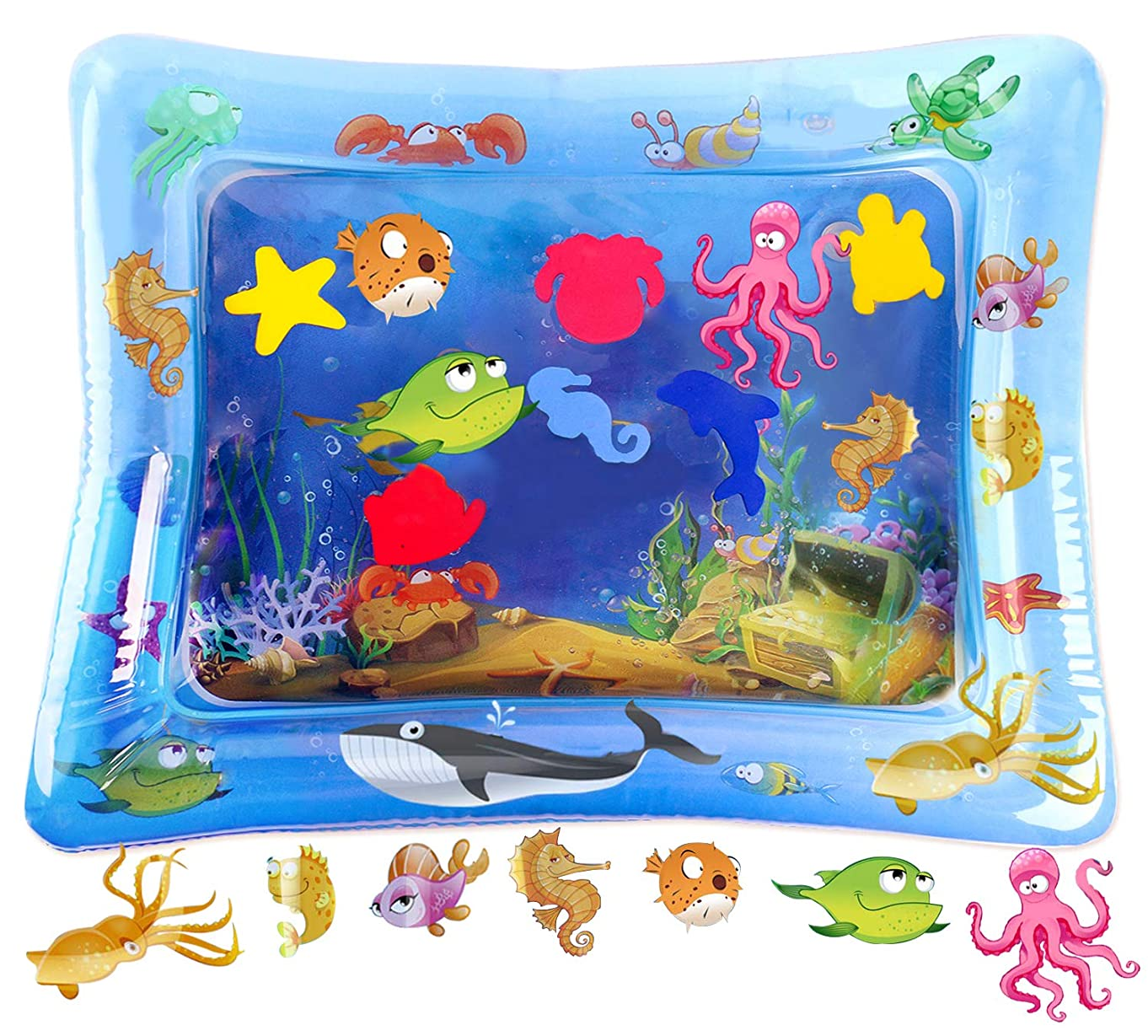 HISTOYE Tummy Time Water Mat for Babies Leakproof PVC Premium Inflatable Baby Water Mat Toys for Infants Toddlers Baby BPA Free Early Development Baby Activity Play Centers