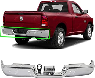 MBI AUTO - Chrome, Steel Rear Bumper Face Bar for 2009-2018 RAM 1500 & 2010-2012 RAM 2500 3500 W/Park W/Out Dual Exhaust, CH1102374