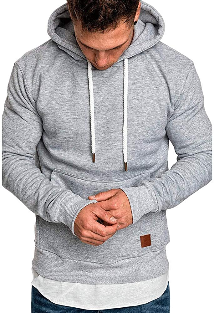 Cookinty Men's Hoodies Pullover Camouflage Sweatshirt Workout Sports Sweater Comfy Loose Long Sleeve Hoodies Tops