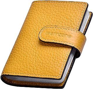 Teemzone, portafoglio da uomo e da donna in vera pelle con portacarte in RFID , Yellow Small (Giallo) - K3141008000