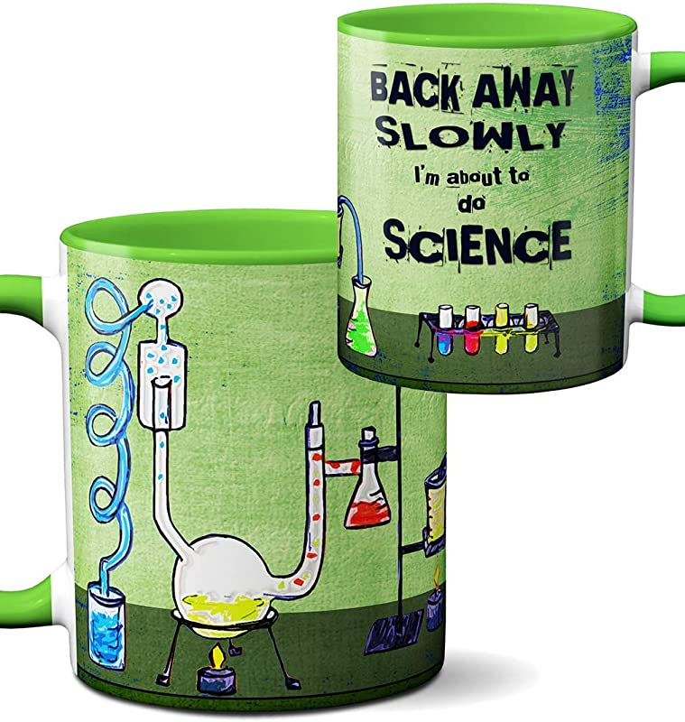Chemistry Lab Science Mug By Pithitude One Single 11oz Green Coffee Cup