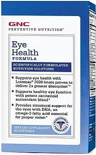 GNC Preventive Nutrition Eye Health Formula, 60 Softgels, Supports Eye Health