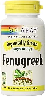 Solaray Organic Fenugreek Seed Supplement, 620 mg, 100 Count