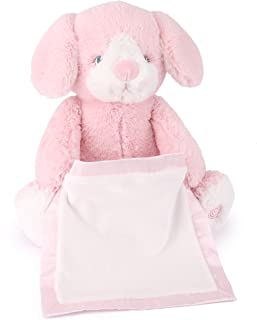 Spin Master Peek a Boo Puppy Animated Stuffed Animal Plush, Pink, 10