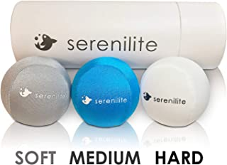 Serenilite 3X Hand Therapy Exercise Stress Ball Bundle - Tri-Density Stress Balls & Grip Strengthening - Therapeutic Hand Mobility & Restoration - Soft, Medium, Hard