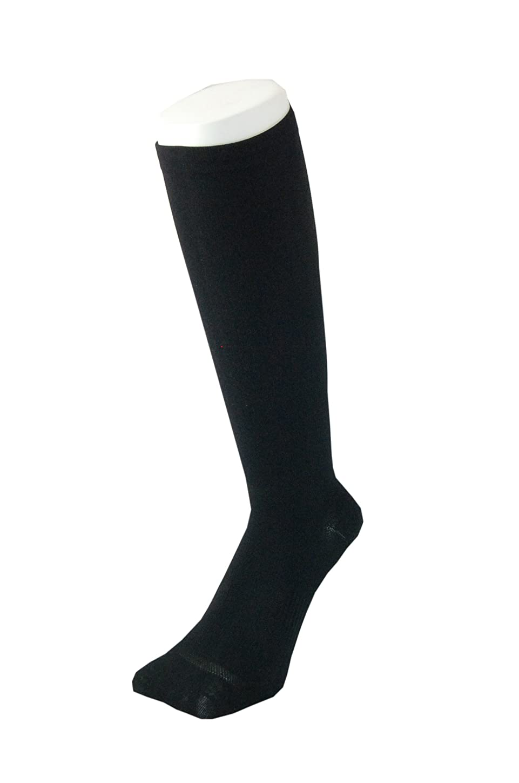 杖スタンド動PAX-ASIAN 紳士 メンズ 着圧靴下 ムクミ解消 締め付け サポート ハイソックス (抗菌加工) 1足組 #800 (黒)